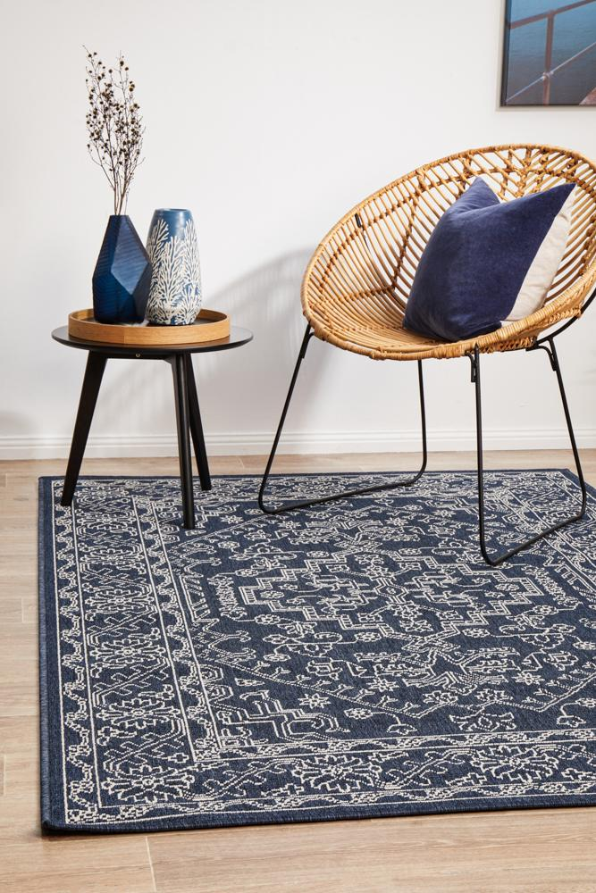 Littoral Fair Navy Rug