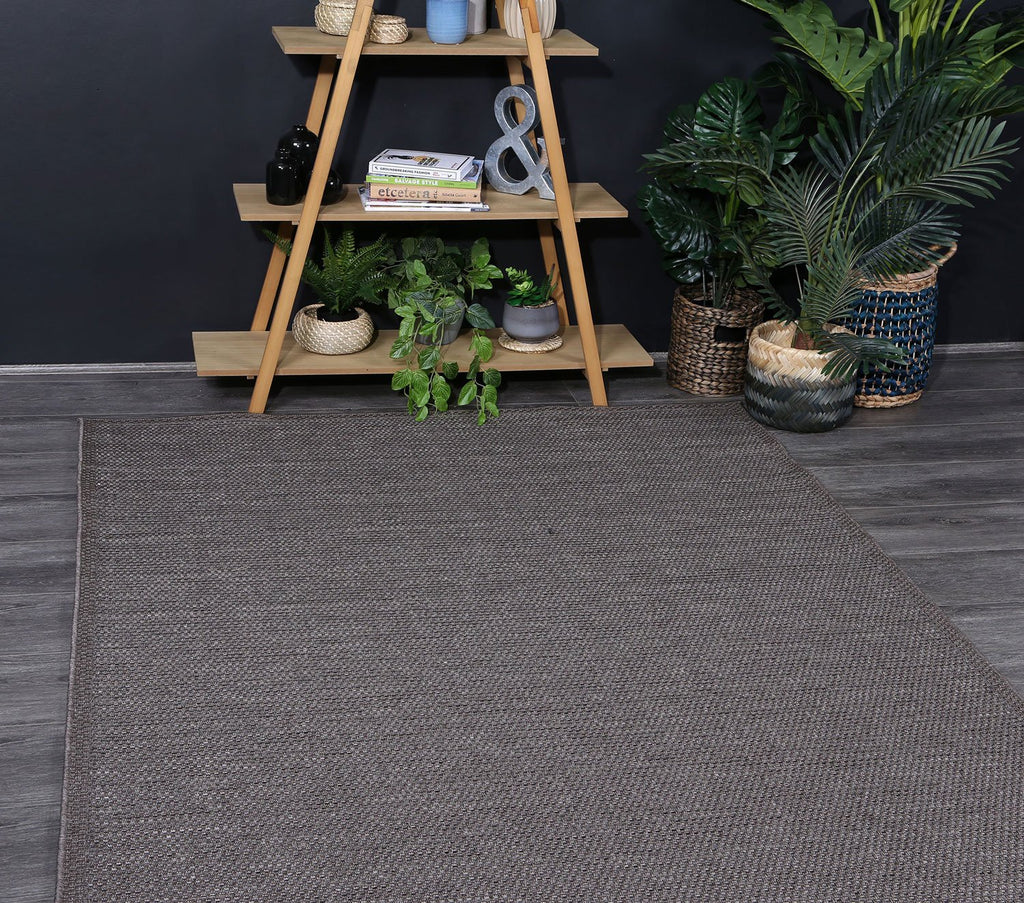 Outdoor indoor Courtyard Brown Rug