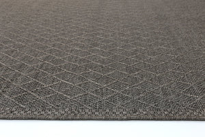 Sydney Courtyard Brown Diamond Rug