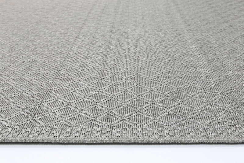 Sydneysider Diamond Light Grey Round Rug