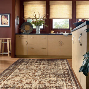 Lava Quick Brown Runner Rug