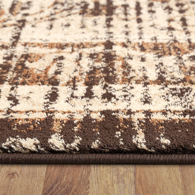 Lava Quick Brown Rug