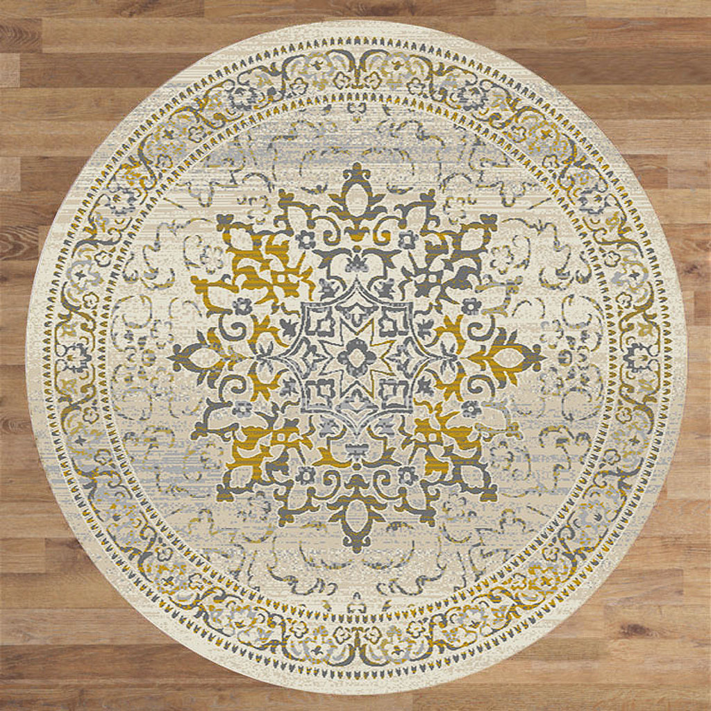 Lava Amber Gold Round Rug