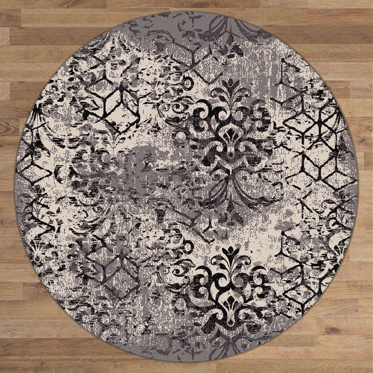 Composure Peace Smoke Round Rug