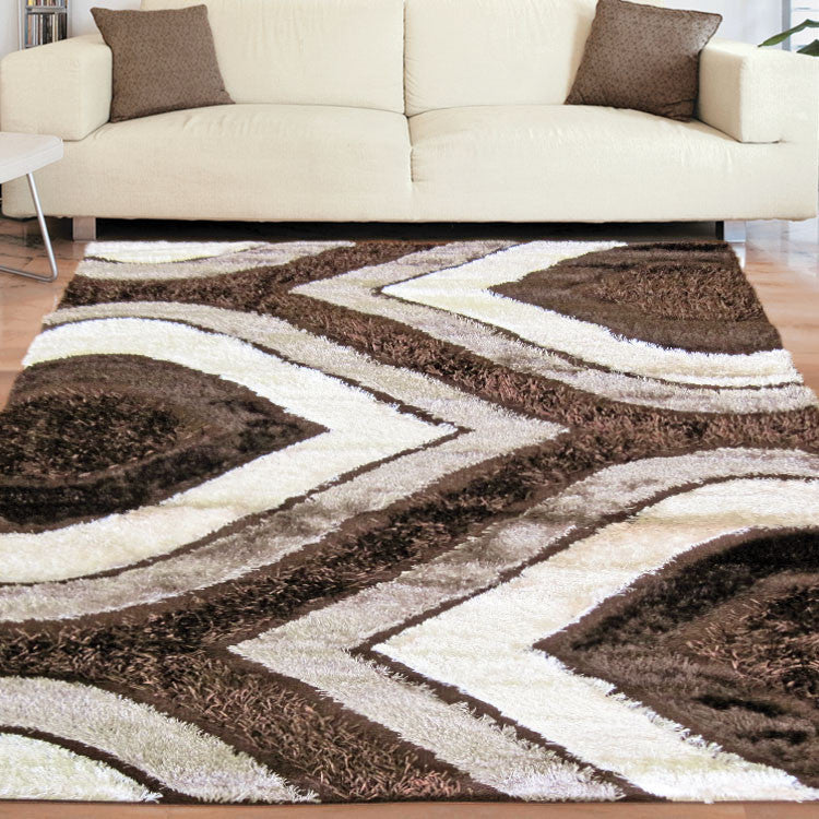Shaggy Soft Rug Luxury Brown