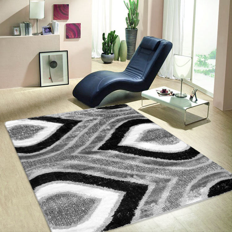 Shaggy Soft Rug Luxury Grey