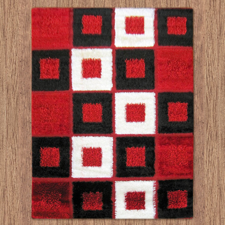 Shaggy Soft Rug Luxury Red