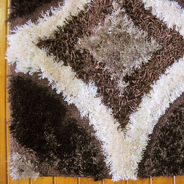 Shaggy Luxury Collection 6048 Brown Runner Rug