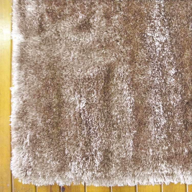Silky Soft Shaggy Cappuccino Runner Rug