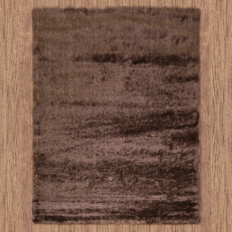 Silky Soft Shaggy Chocolate Brown Rug