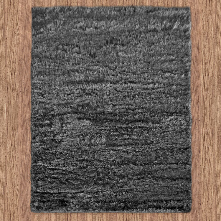 Silky Soft Shaggy Dark Grey Rug