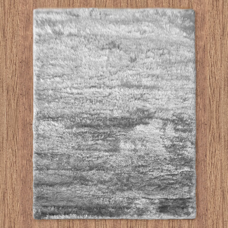Silky Soft Shaggy Light Grey Rug