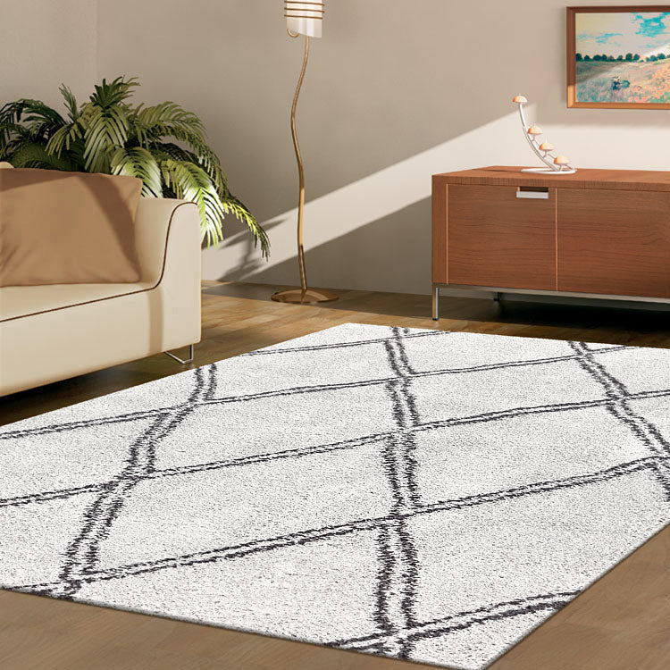 Serenate Sun Tribal Shaggy Cream Rug