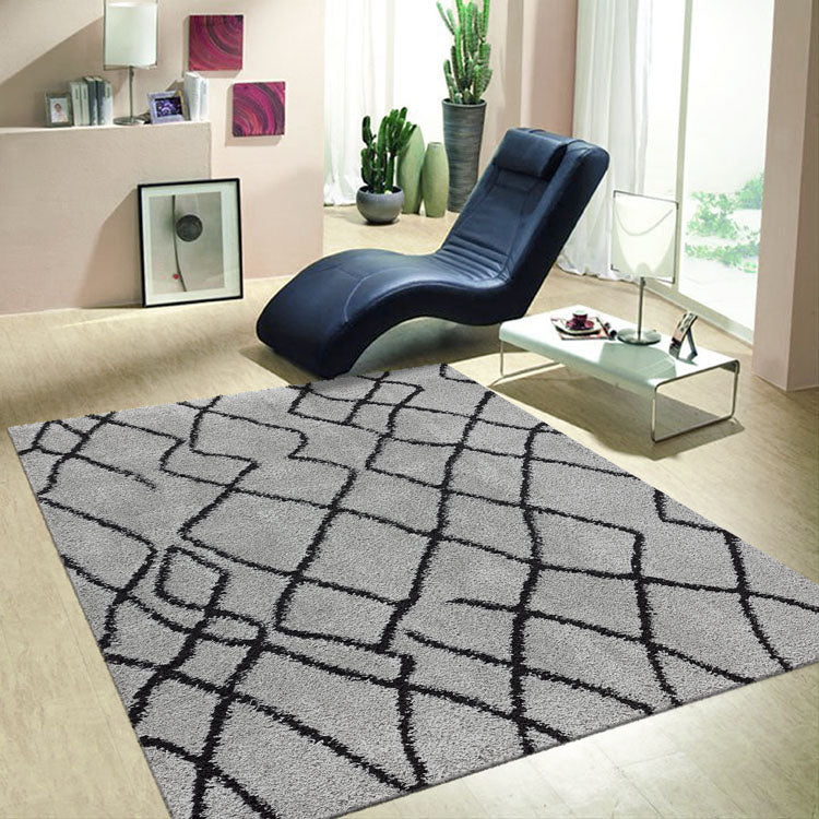 Serenate Moon Tribal Shaggy Grey Rug