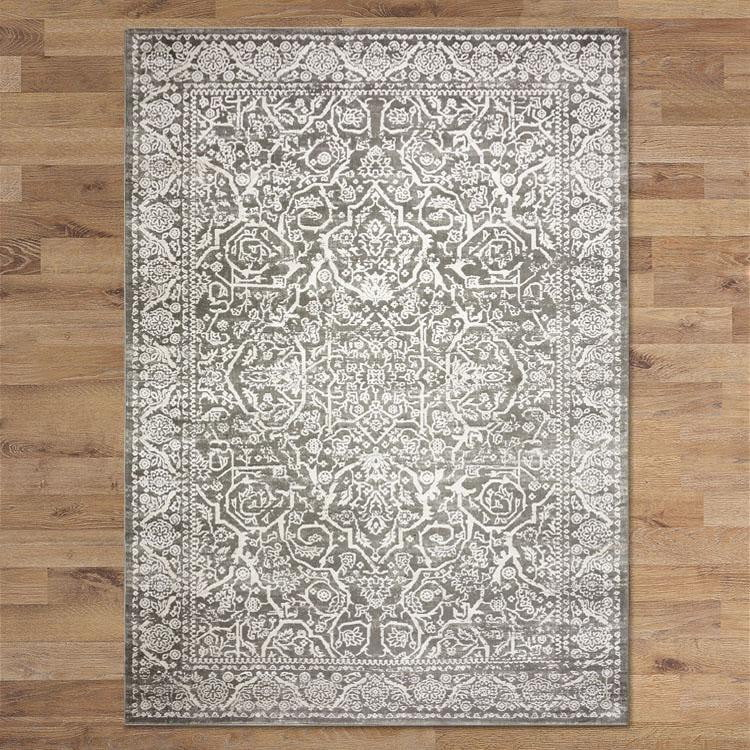 Celestial Steller Light Grey Runner Rug