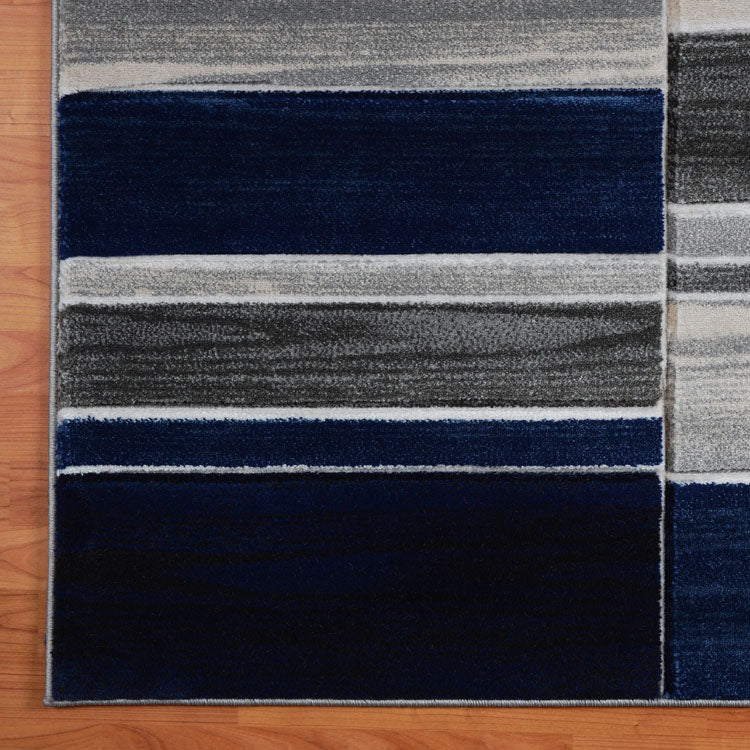 Sungate Balance Grey Blue Runner Rug