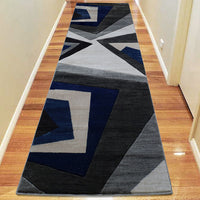 Sungate Point Grey Blue Runner Rug