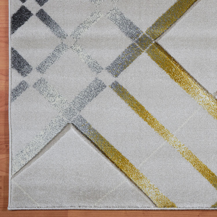 Sungate Vibrations Gold Runner Rug