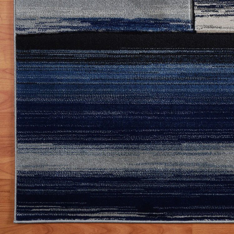 Sungate Quad Grey Blue Runner Rug