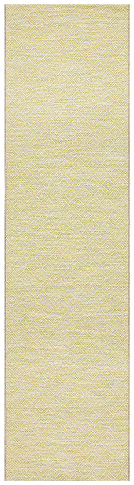 Courtyard Deck  Green Runner Rug