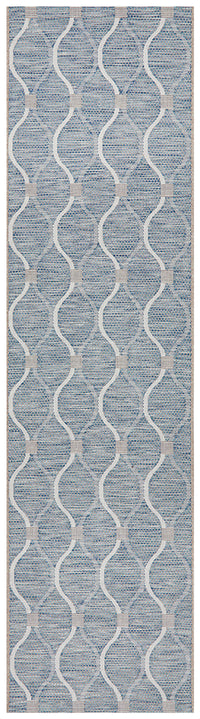 Courtyard Portico Blue Runner Rug
