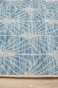 Courtyard Porch Llertis Blue Runner Rug