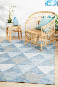 Courtyard Ego Blue Rug
