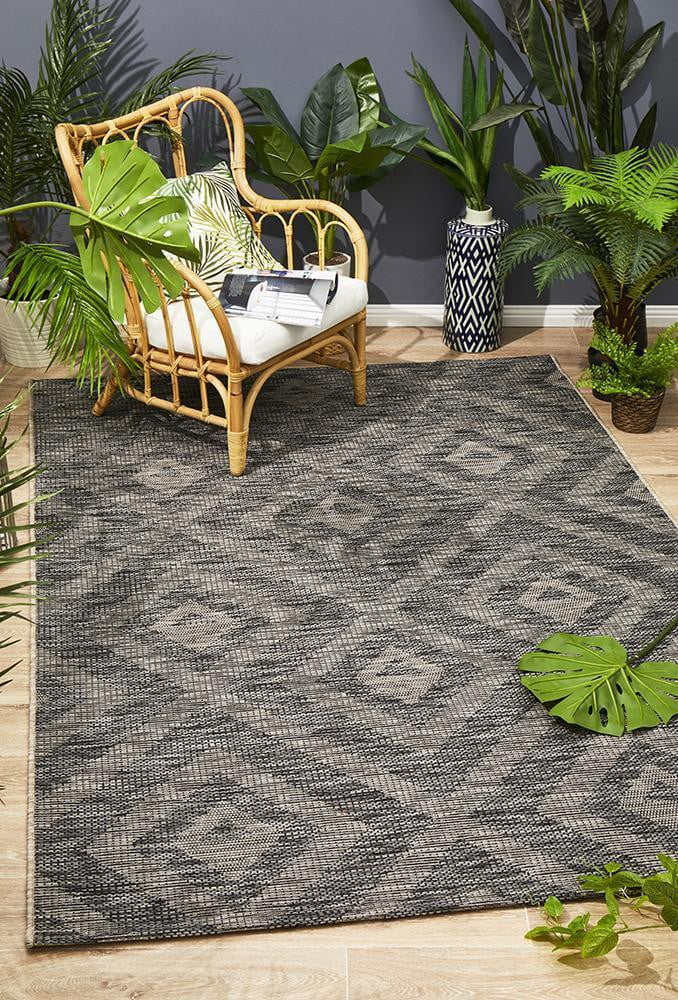 Black Indoor Outdoor Rug
