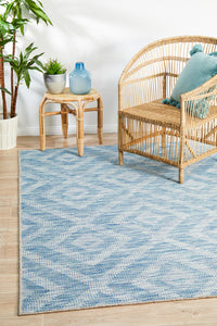Courtyard Acin Blue Rug