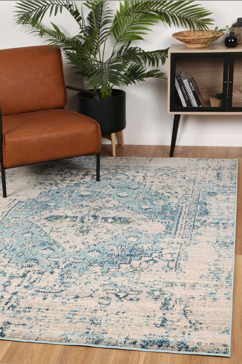 Micah Blue Transitional Rug