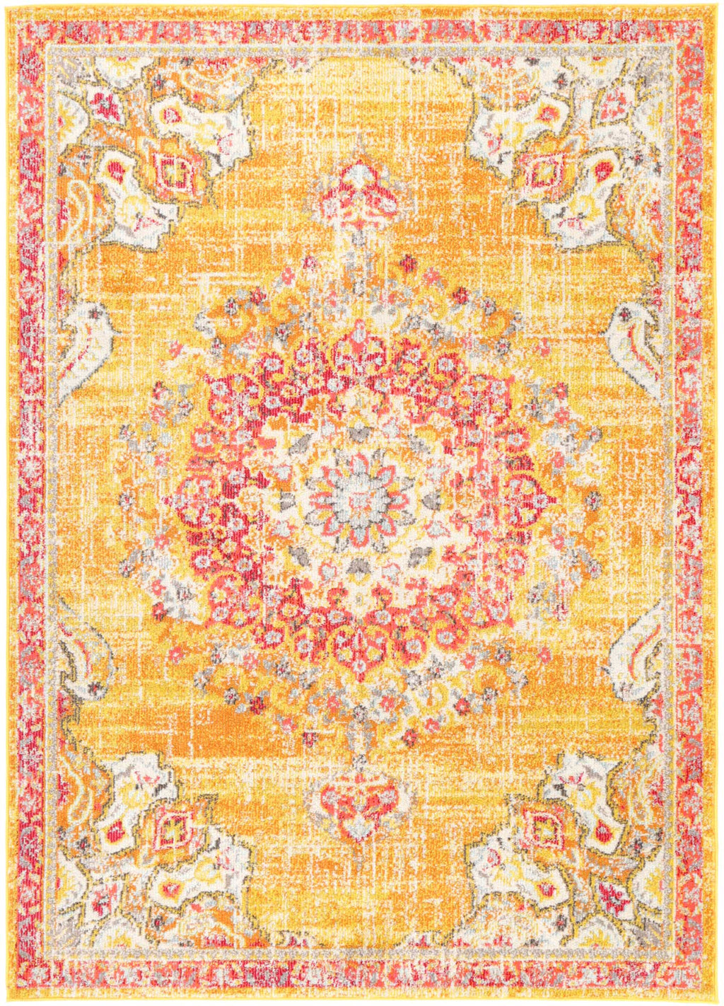 Micah Sunset Transitional Yellow Rug
