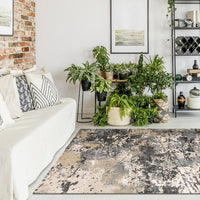 Central Citified Grey Rug