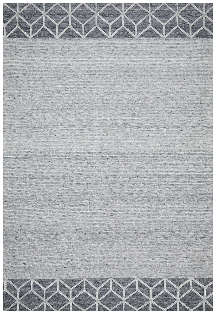 Winter Grey Pulse Modern Rug