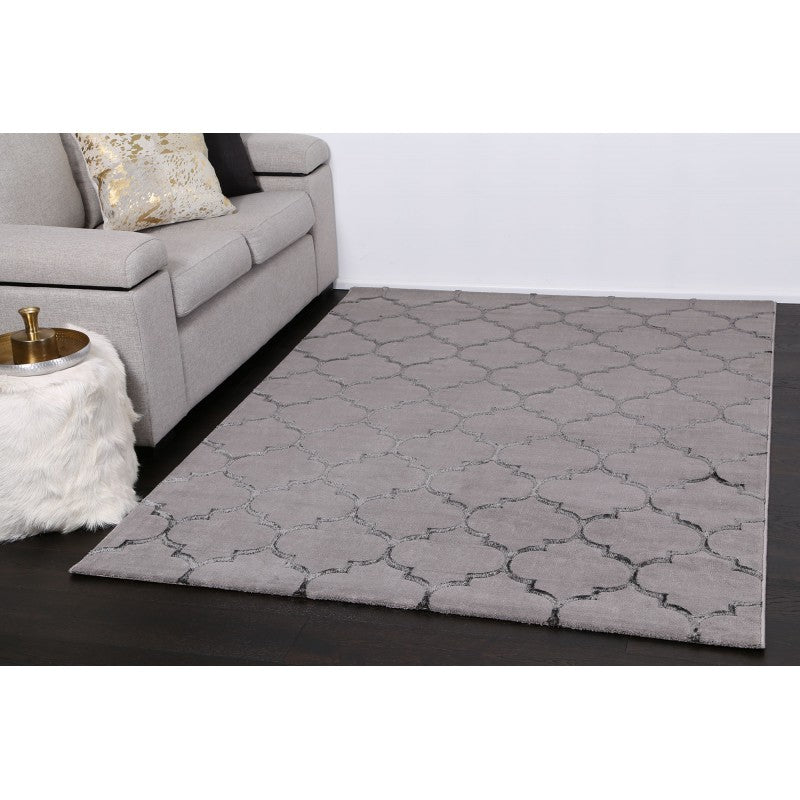 Elit Grey Black Rug