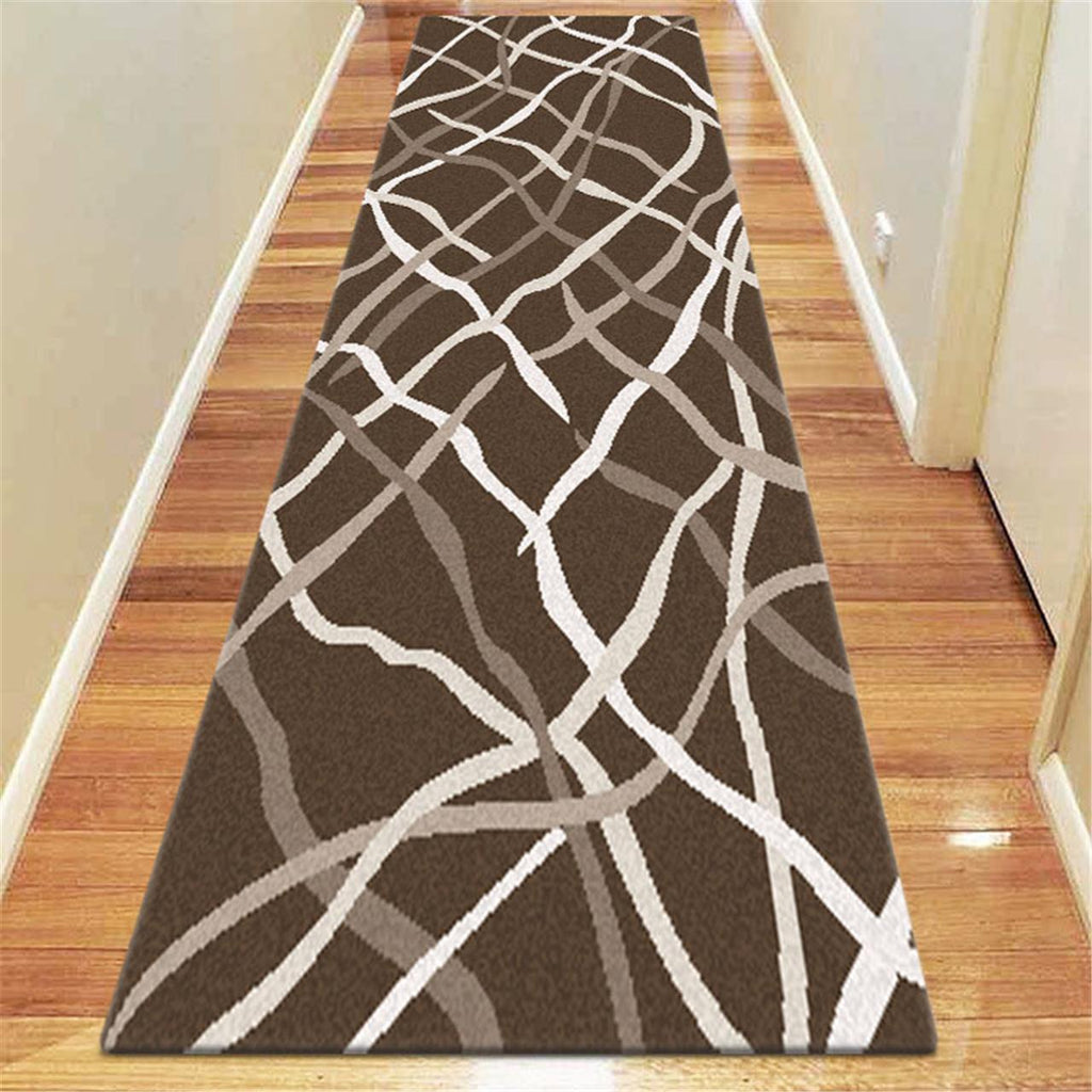 Prestige Position Brown Runner Rug