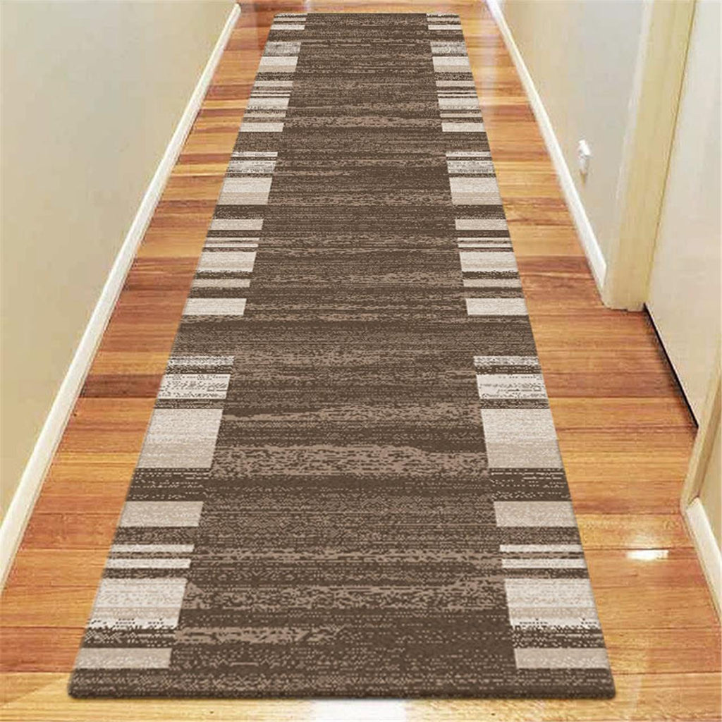 Prestige Location Brown Runner Rug