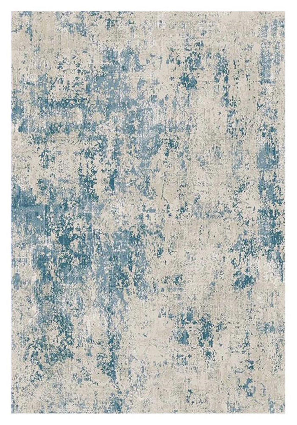 Portise Forest Grey Blue Runner Rug
