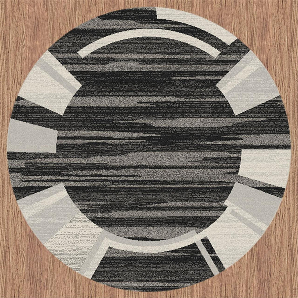 Prestige Location Black Round Rug