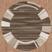Prestige Location Brown Round Rug