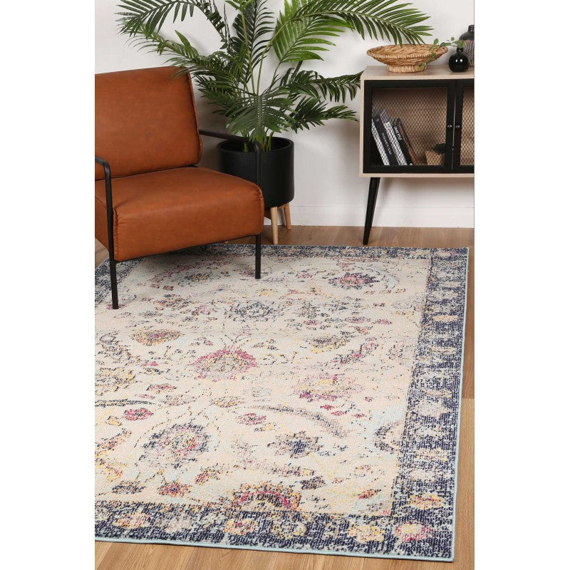Micah Beige/Blue Traditional Rug