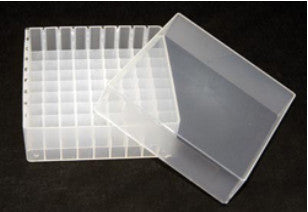 100 well clear plastic freezer box for micro centrifuge tubes storage green bioresearch store