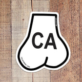 California Oval Balls Sticker