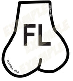 Balls Shaped State of Florida Oval Sticker