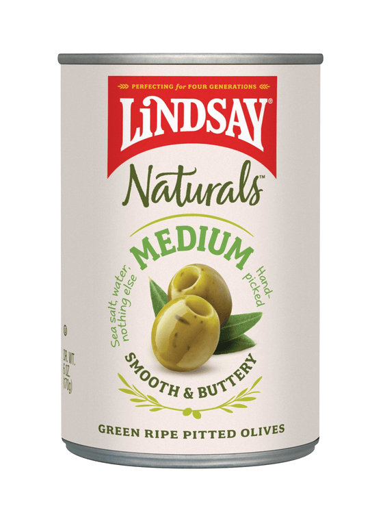 Natural  Medium Green Ripe Olives (6 pack)