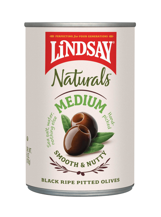 Natural  Medium Black Ripe Olives (6 pack)