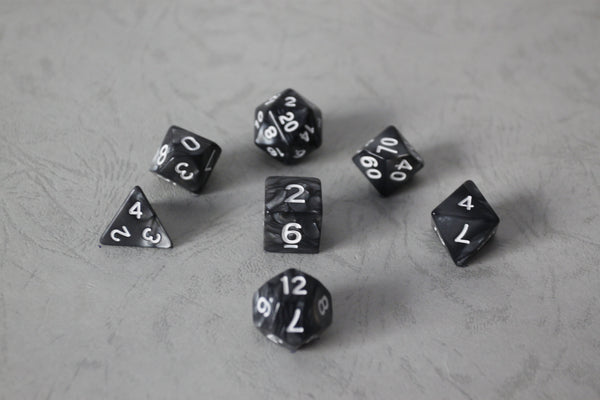 D.O.U Plastic Polyhedral Set - Diamond Dust Series - Black