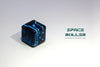 (B GRADE) 1 Die of Space Roller Dice MK II - Blue Groove Black Finish