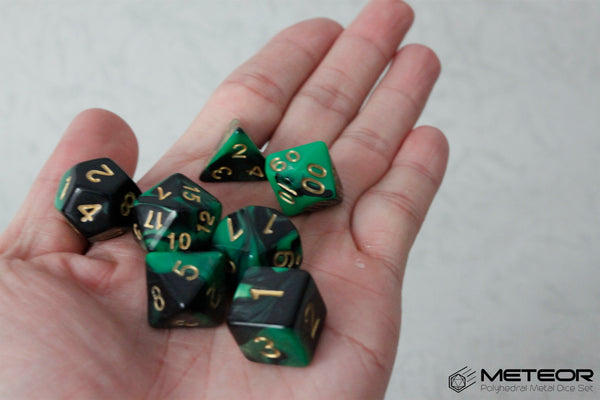 D.O.U Plastic Polyhedral Set - Black Hole Series - Green