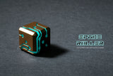 Blue Glow Bronze Finish Space Roller Dice