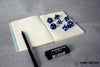 Meteor Polyhedral Metal Dice Set- Blue